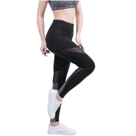 Stitching Mesh Breathable Yoga Jogging Pants Slim Fit